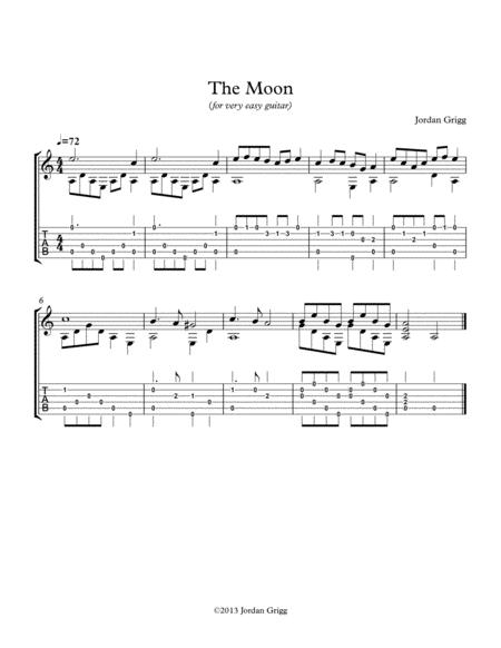 The Moon (for very easy guitar)