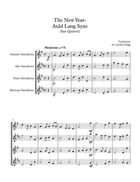 The New Year - Auld Lang Syne (Sax Quartet)