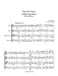 The New Year - Auld Lang Syne (Wind Quartet)