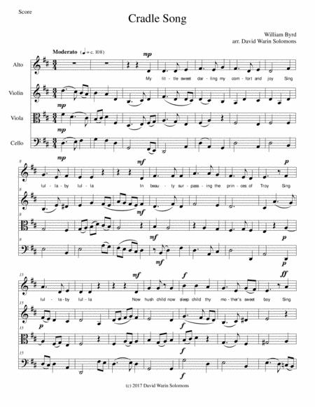 Cradle Song for alto and string trio