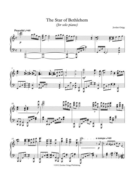 The Star of Bethlehem (for solo piano)