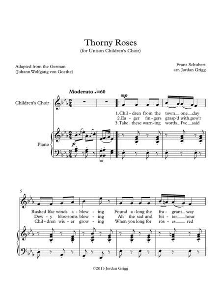 Thorny Roses (for Unison Children's Choir)