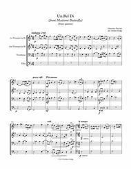 Un Bel Di from Madame Butterfly (brass quartet)