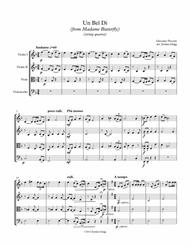 Un Bel Di from Madame Butterfly (string quartet)