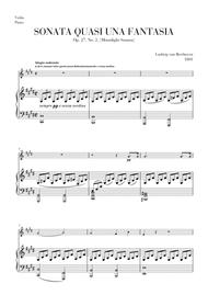 Moonlight Sonata for Violin and Piano duet