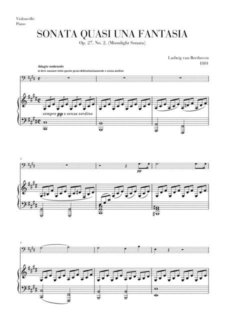 Moonlight Sonata for Cello and Piano