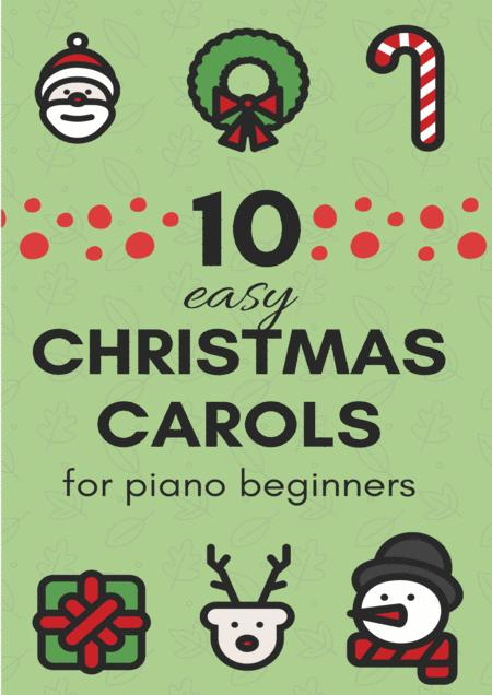 10 Easy Christmas Carols for Piano Beginners (Music for Children)
