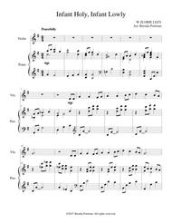 Infant Holy, Infant Lowly (violin/piano), arr. Brenda Portman