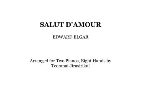 Salut D'Amour for 2 pianos 8 hands
