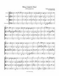 What Child Is This (String Quartet)