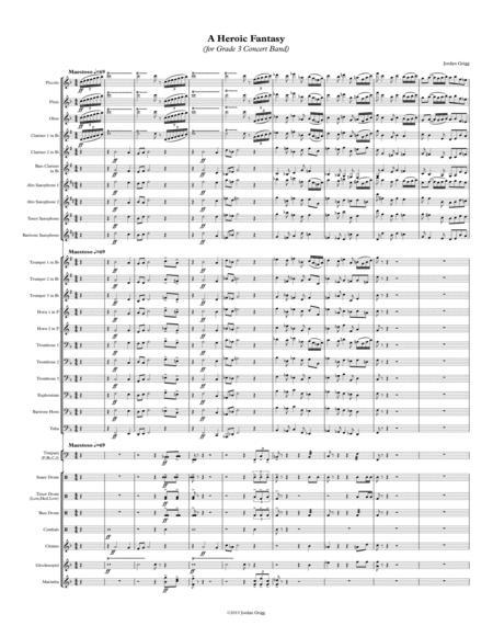 A Heroic Fantasy (for Grade 3 Concert Band)
