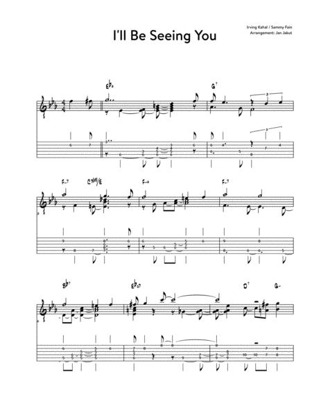 Download Ill Be Seeing You Chord Melody Guitar Sheet Music By