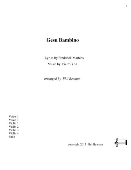 Gesu Bambino - Vocal Duet with String Ensemble and Flute
