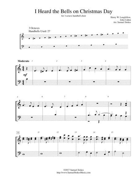 I Heard the Bells on Christmas Day - for 3-octave handbell choir