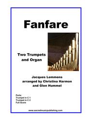 Fanfare in D Jacques Lemmens for Two Trumpets and Organ