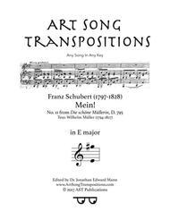 Mein! D. 795 (E major)
