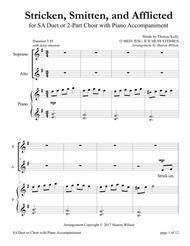 Stricken, Smitten, and Afflicted (for SA Choir with Piano accompaniment)