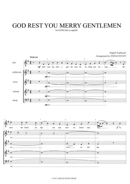God Rest You Merry Gentlemen - SATB+Solo A Cappella
