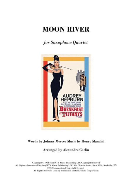 Moon River - Saxophone quartet