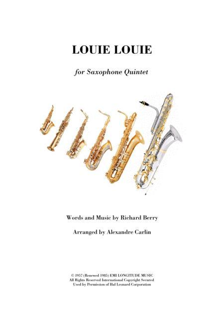 Louie, Louie - Saxophone Quintet or ensemble