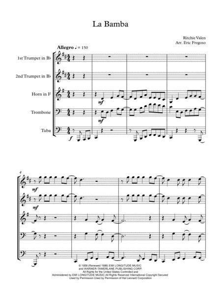 La Bamba for Brass Quintet