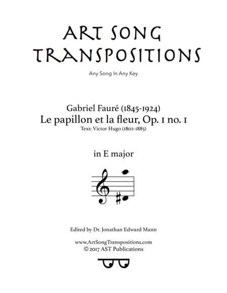 Le papillon et la fleur, Op. 1 no. 1 (E major)