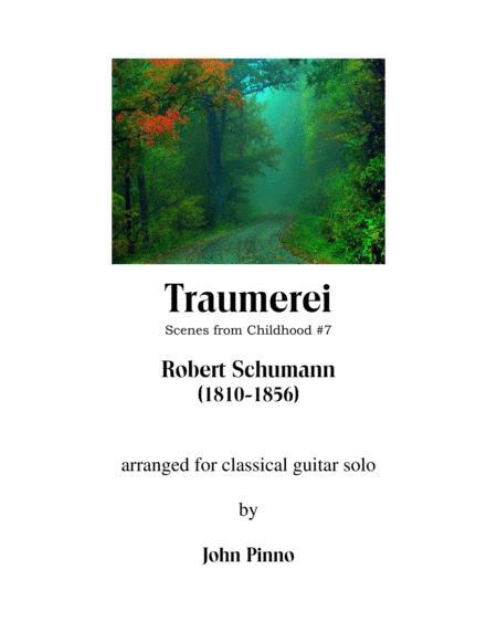 Traumerei (Robert Schumann) for solo classical guitar