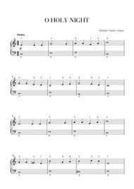 O Holy Night - Easy/Beginner Piano