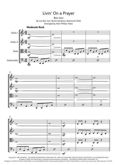 Livin' On A Prayer (string quartet)
