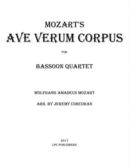 Ave Verum Corpus for Bassoon Quartet