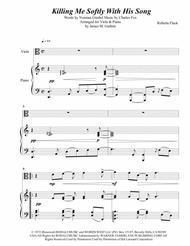 Roberta Flack: Killing Me Softly With His Song for Viola & Piano