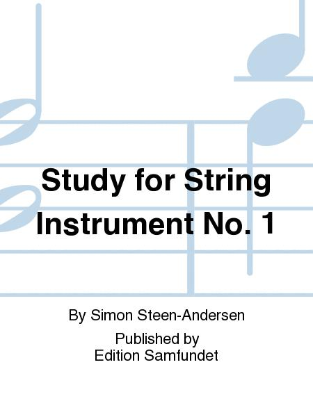 Study for String Instrument #1