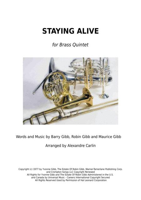 Stayin' Alive  from the Motion Picture SATURDAY NIGHT FEVER - Brass Quintet