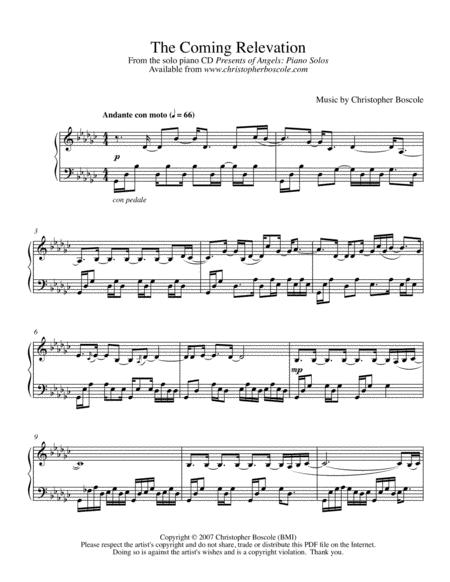 The Coming Relevation Piano Solo by Christopher Boscole