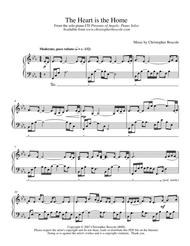 The Heart is the Home Piano Solo by Christopher Boscole
