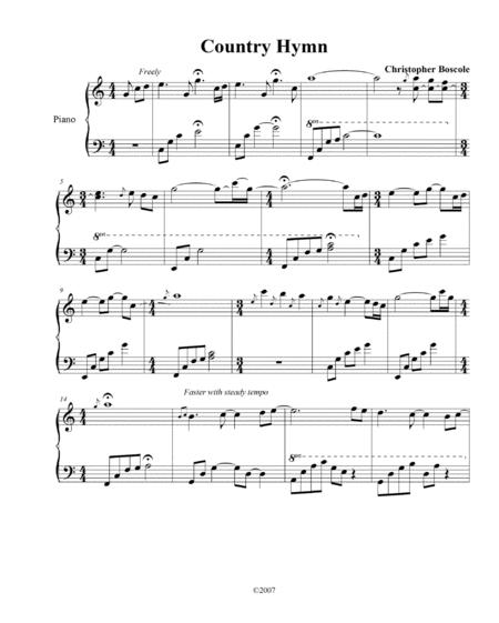 Country Hymn Piano Solo by Christopher Boscole