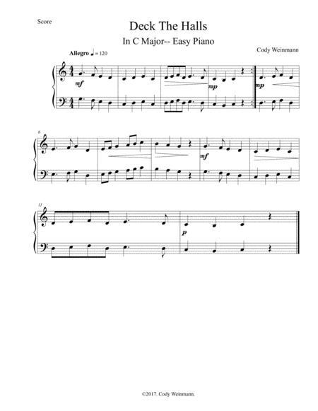 Deck The Halls (Easy Piano)