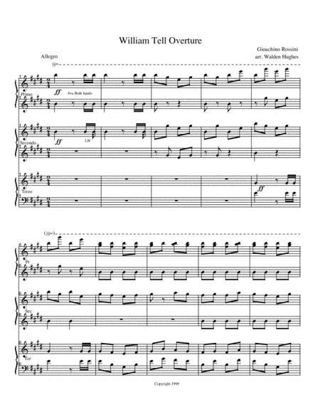 William Tell Overture Piano Trio (1 Piano 6 Hands)