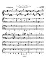 Jesu Joy for Piano Trio (1 Piano 6 Hands)