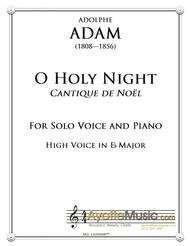 O Holy Night / Cantique de Noel for High Voice in Eb
