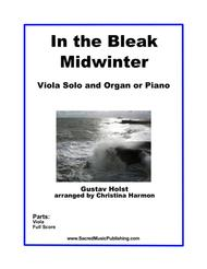 In the Bleak Midwinter - Viola Solo and Organ or Piano