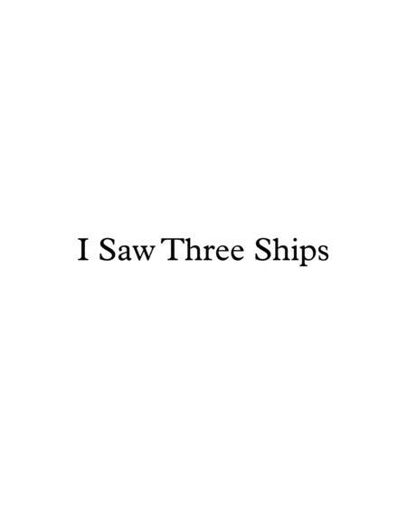I Saw Three Ships - Christmas carol - for late beginner piano