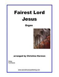 Fairest Lord Jesus - Organ