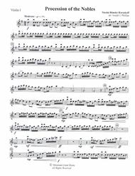 Procession of the Nobles-Violin 1