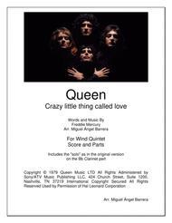 Crazy Little Thing Called Love, Queen, Wind Quintet