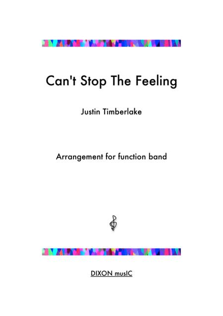 Can't Stop The Feeling - Justin Timberlake - For function band