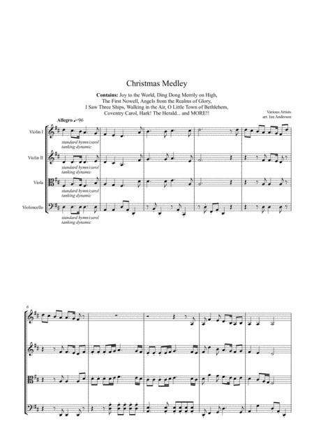 Christmas Medley (string quartet)