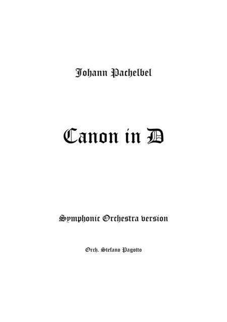 Canon in D - Full Orchestra version