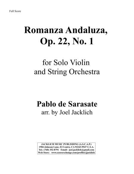 Romanza Andaluza, Op. 22, No. 1 for Solo Violin and String Orchestra