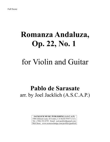 Romanza Andaluza, Op. 22, No. 1 for Solo Violin and Guitar